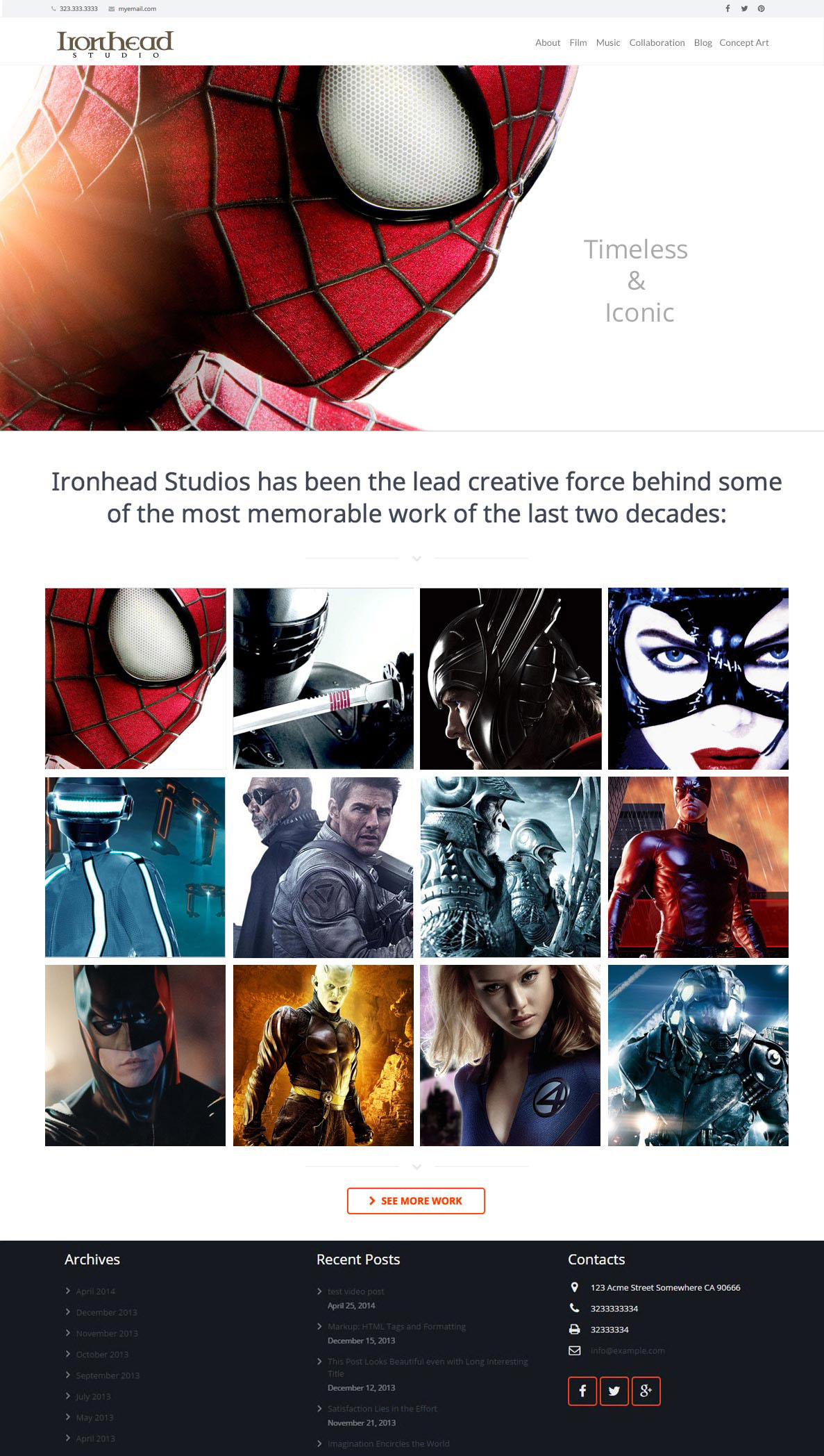 Ironhead Studio Website